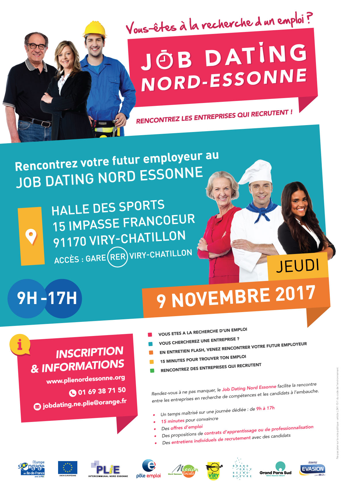 Job dating Nord Essonne Viry-Chatillon 9 novembre 2017
